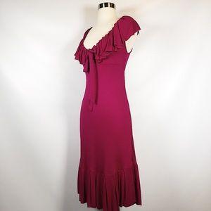 DVF   Baila Ruffle Fuschia Dress